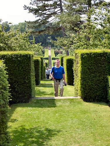 Armin walking up from the Walled Garden
