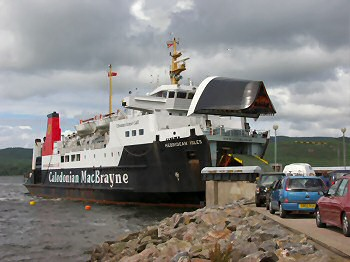 Picture of the ferry arriving in Kennacraig