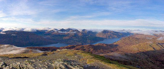 Picture of the view from Ben Lomond