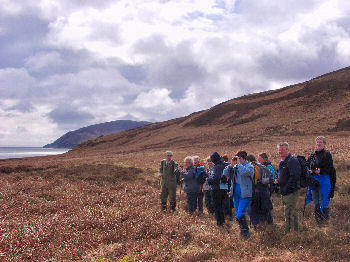 Picture of walkers overlooking the Sound of Islay