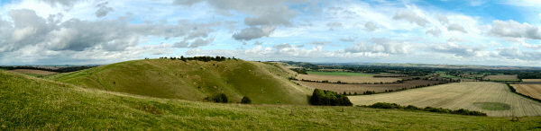 Picture of the view over the Vale of Pewsey