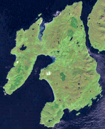 Picture of the Isle of Islay from Space