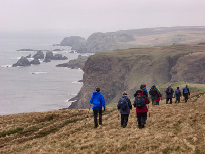 Picture of walkers on The Oa, Isle of Islay