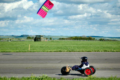 Picture of a kite powered buggy