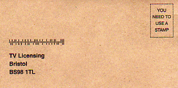 Scan of the envelope