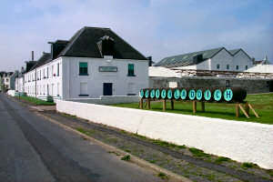Picture of a distillery with casks